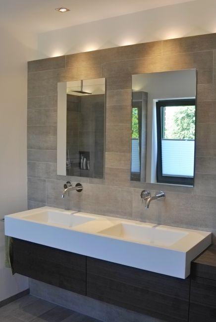 waschtisch corian spiegelschrnke in wand eingelassen - Badmobel Modern