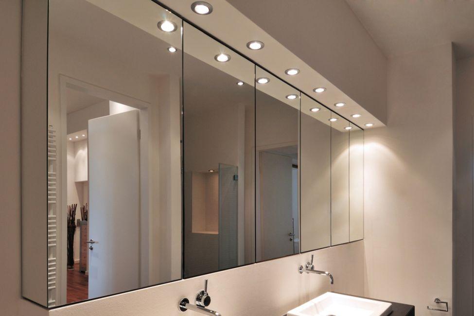Attirant Spiegelschrank Nach Maß In Wandfläche Integriert