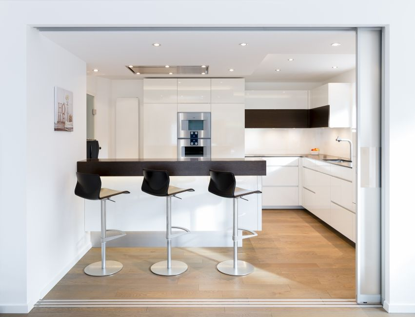 Charming Kuche Esszimmer Schiebetur #12: Glasschiebetüranlage Trennung Küche Esszimmer