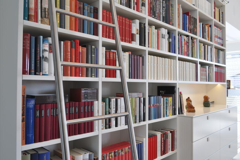Bibliothek wohnzimmer indirekte wohnzimmer beleuchtung - Bibliothek wohnzimmer ...